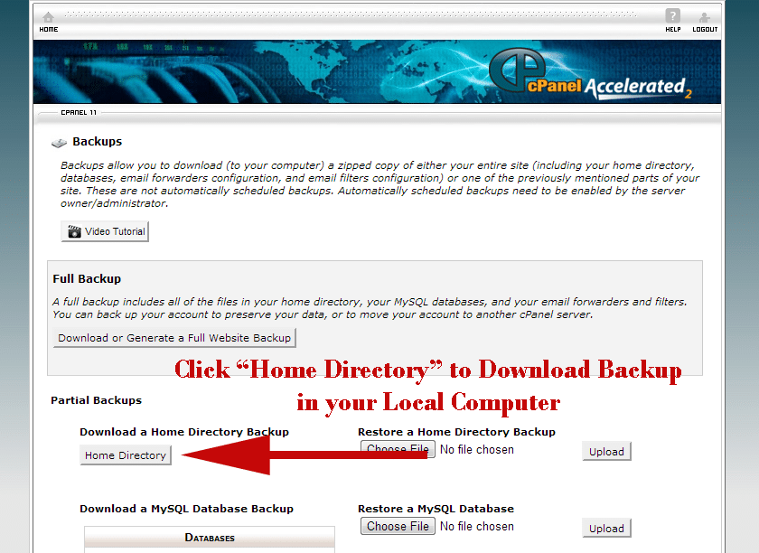 download backup of your blog using Cpanel