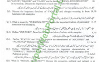 Sociology Old papers of University of the punjab
