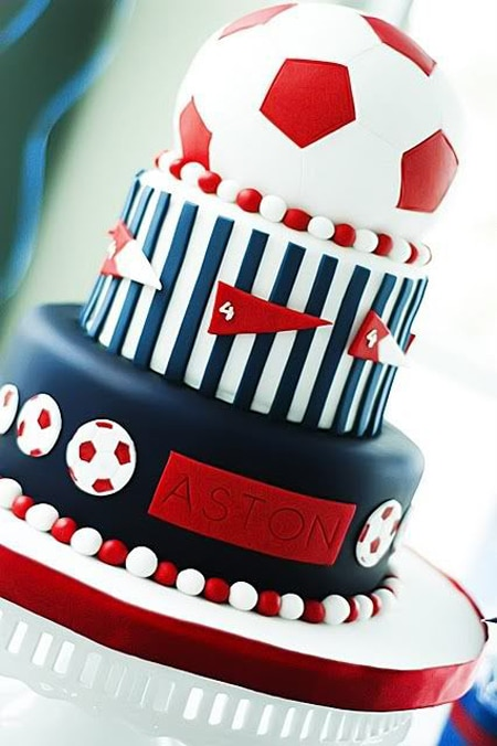 football cake design for boys