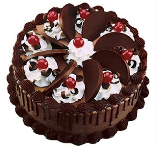 Happy Birthday Chocolate Cake For Friend In Heart Shape