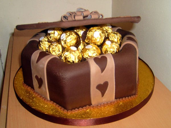Golden Cake For Birthdays