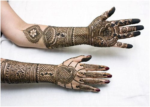 Arabic-mehandi design for brides