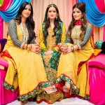 Beautiful Mehndi Dresses for brides in Pakistan 2015