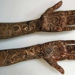 Full hands mehndi design in black best ever