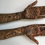 Full hands mehndi design in black best ever