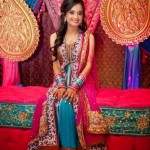 Colorful mehndi dresses designs 2015 for bridals