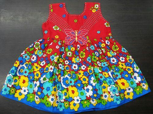Cotton baby frocks with short