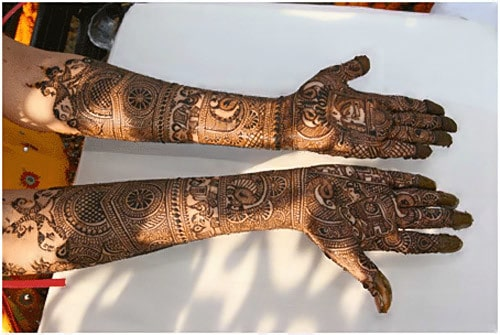 Mehndi Design for brides on Marriage day