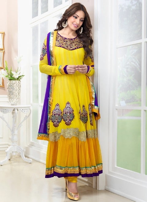 Frocks for Mehndi for brides