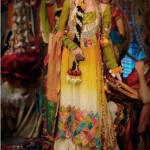 Mehndi function wedding dresses 2015 trends