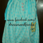 Sea green color loose frock real sample