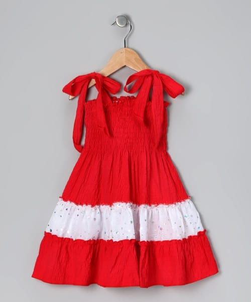 Baby dresses frocks garments red