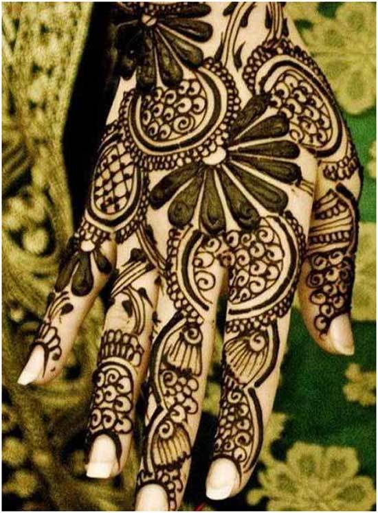 Beautiful Black mehndi design 2015