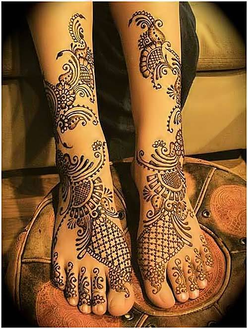brides henna mehndi designs