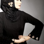 black stylish hijab and abaya muslim pakistani