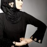 black stylish hijab and abaya muslim pakistani