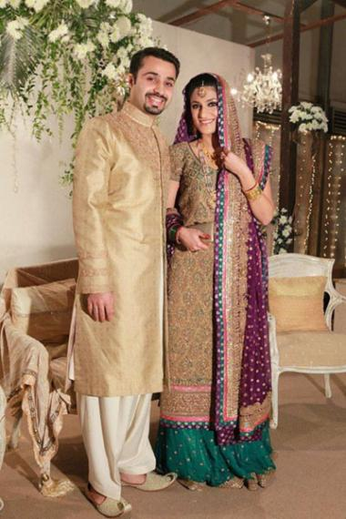 bride and groom walima dresses 2015