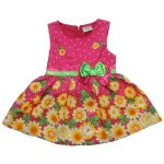 Cotton flower dress for girls 2015 latest design