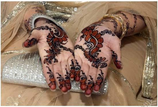 Creative colorful henna mehndi design 2015
