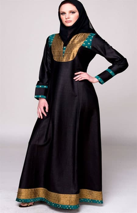 frock style abaya for wedding
