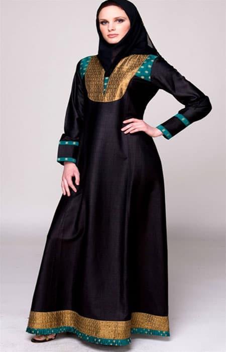 frock style abaya for wedding