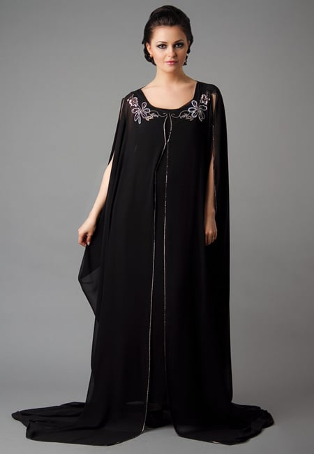 half sleeves abaya for latest fashion