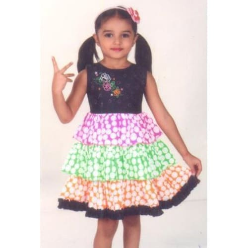 half sleeves cotton frocks for kids models