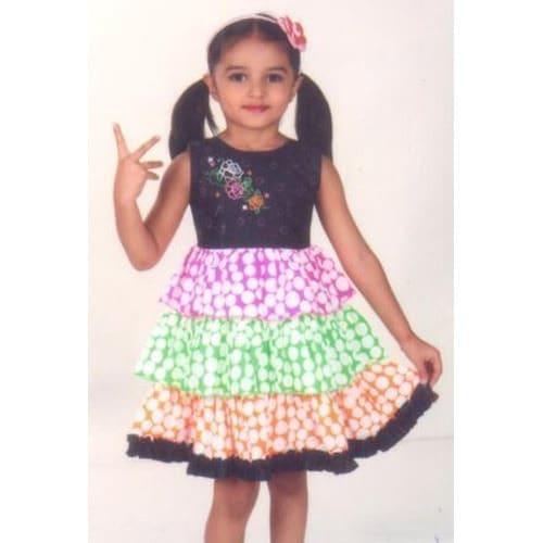 half sleeves cotton frocks for kids models
