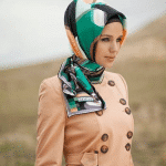 light color hijab and scarf
