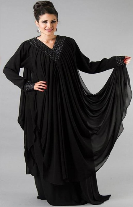long length stylish abaya