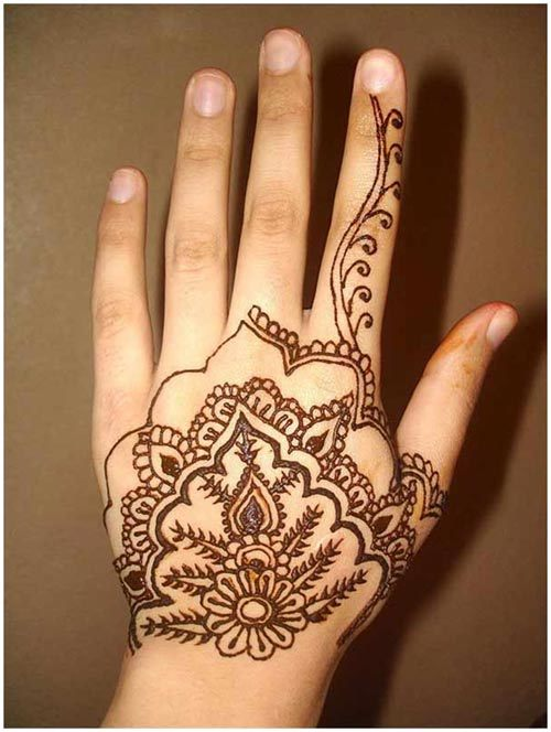 Arabic henna design for women
