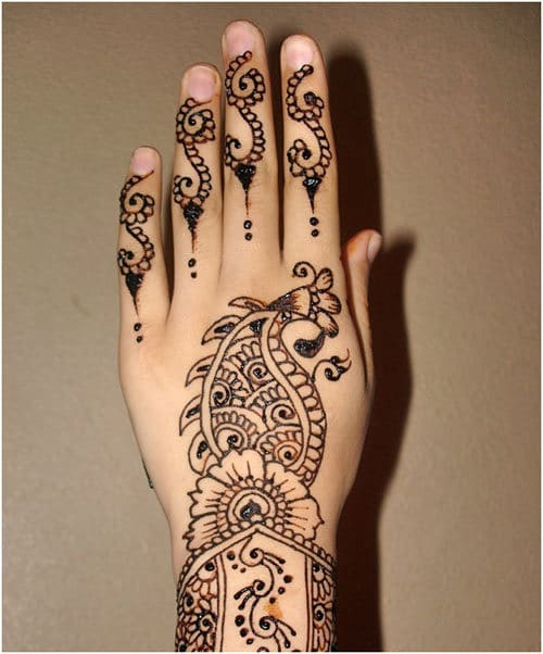 left hand henna styles for weddings 2015