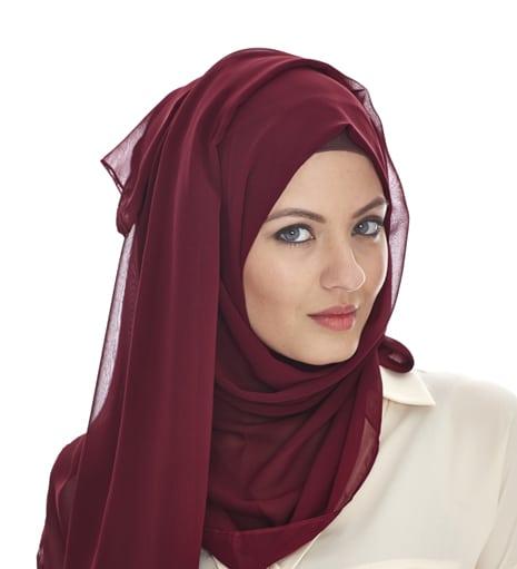 net hijab in maroon HD 2015 style