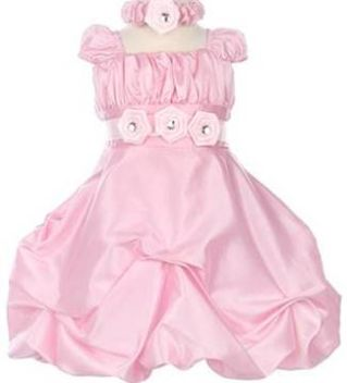 pink color baby frocks designs