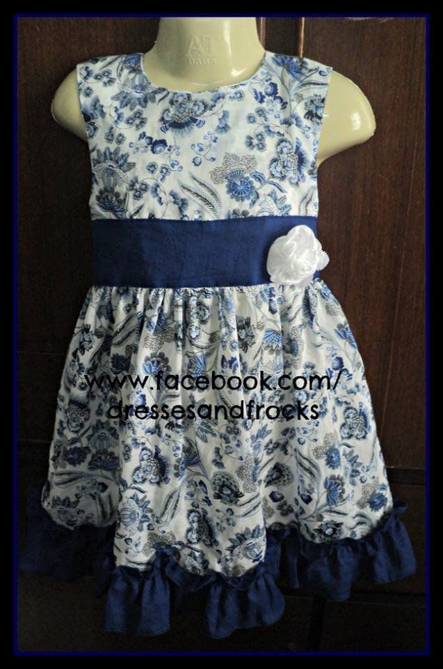 printed 2015 summer frocks with belt fancy design real sample
