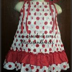 red and white butterfly cotton frcok for baby