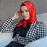 red western scarf and abaya silky