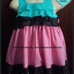 two colors frock for kids cotton