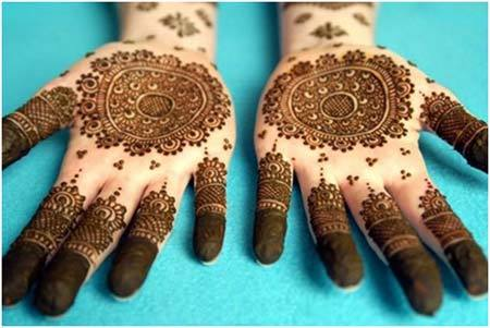 unique round mehndi designs indian pakistani arabic