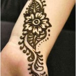 wrist tattoo mehndi design for young girls