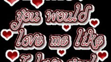 Quotes About I Wish You Love Me