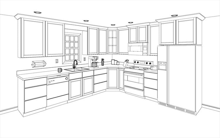 Kitchen Layout Simple X Kitchen Layout With Awesome Kitchen – Optimal Kitchen Layout