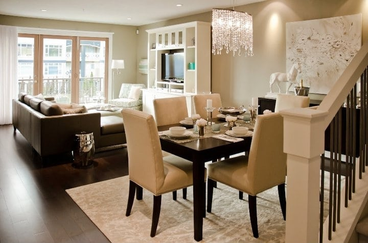 Home decor dining room ideas living room decor ideas for Living dining room small space