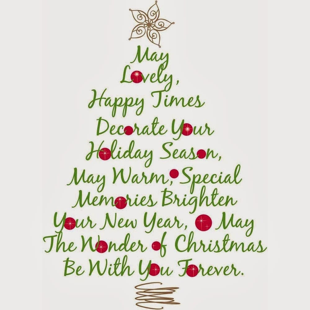 Merry Christmas Quotes for Cards, Sayings for Friends and Family 2016